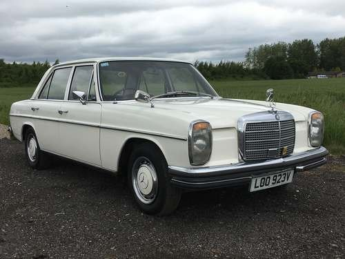1972 Mercedes 250 at Morris Leslie Auction 17th August For Sale by Auction (picture 1 of 6)