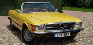 1973 LOVELY  RARE  73  SL  350  FSH  AND  VERIFIED  MILES