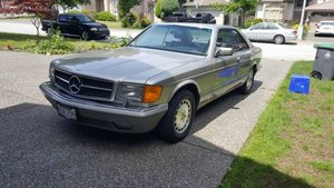 1988 Mercedes 560 SEC Sedan = Clean Silver Driver $13.2k For Sale