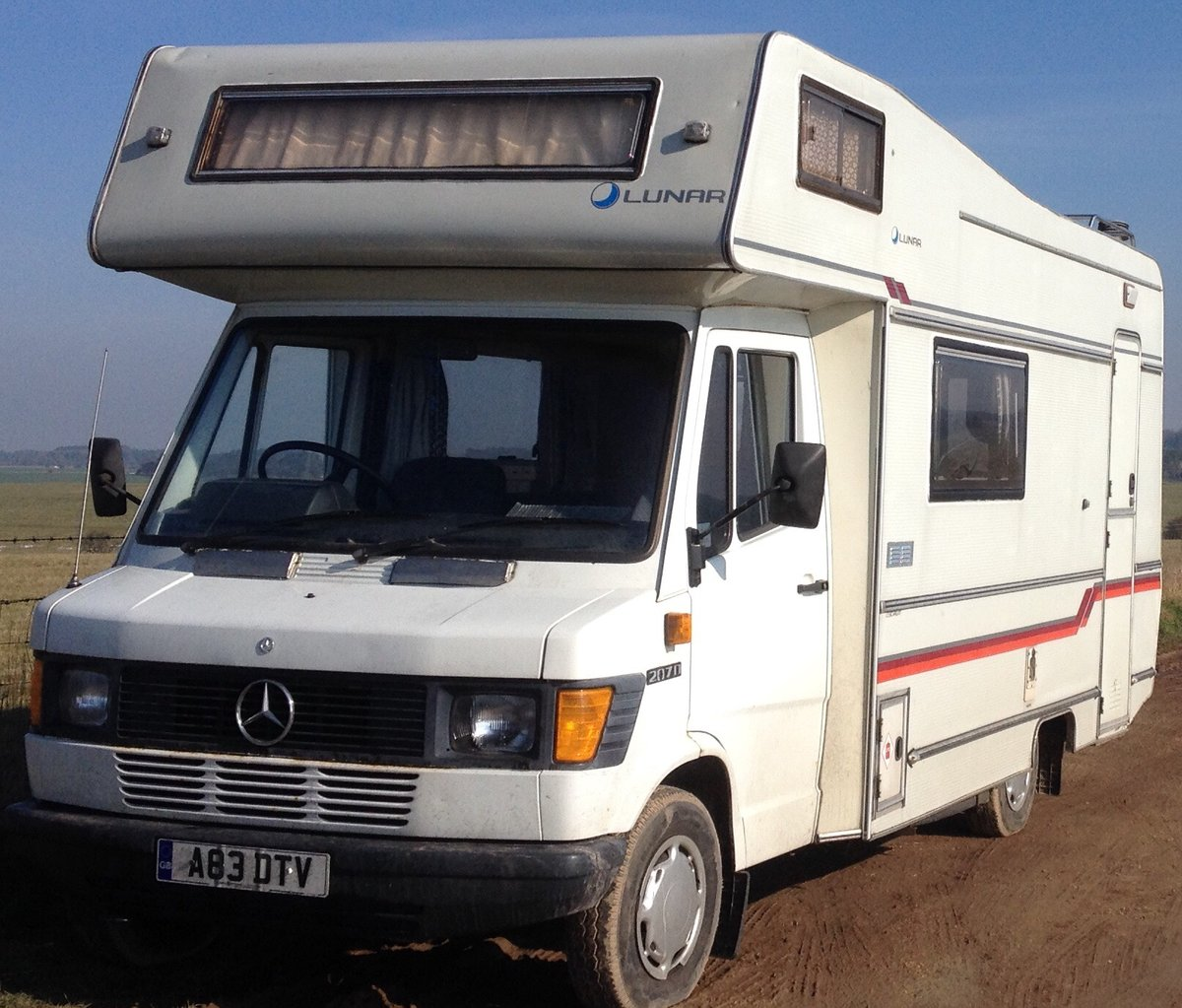 1984 Mercedes 207D motorhome / camper van For Sale (picture 1 of 6)