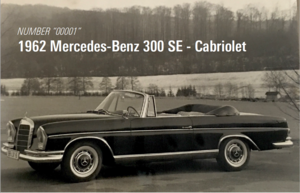 1962 #0001 Mercedes 300SE! Serial #001. For Sale