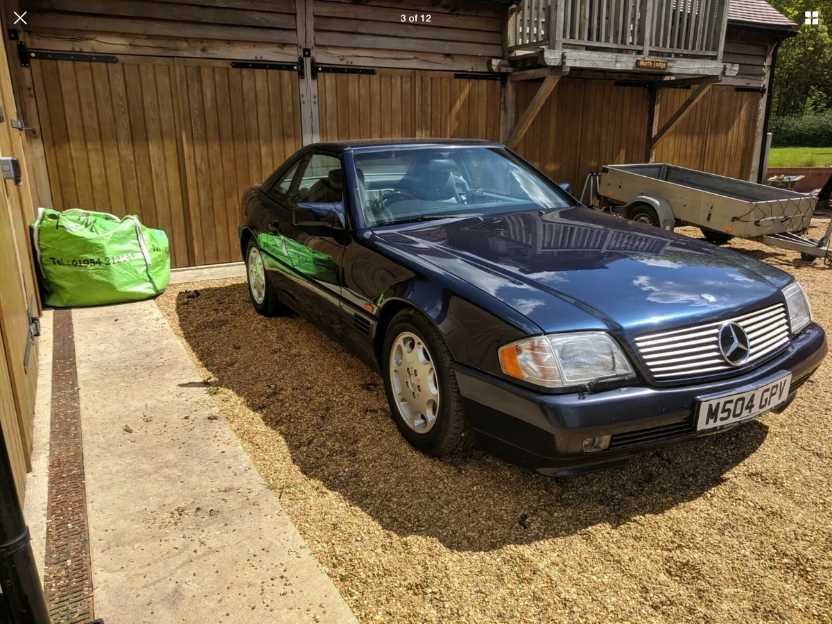 1995 MERCEDES BENZ SL500 - Lovely condition in a great colour For Sale (picture 3 of 6)