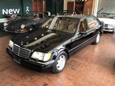 1997 Mercedes S420 Sedan = low miles 1 owner Black $11.9k For Sale