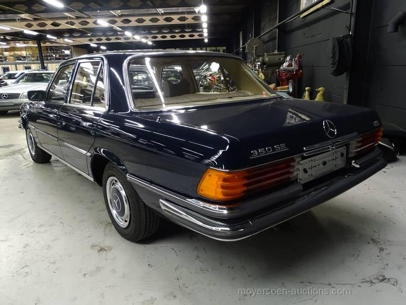 1978 MERCEDES-BENZ 350 SE For Sale by Auction (picture 3 of 6)