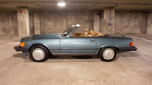 1989 Mercedes 560 SL Roadster Convertible 59k miles Green $29.9k