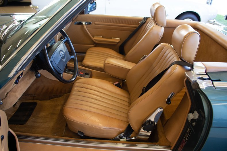 1989 Mercedes 560 SL Roadster Convertible 59k miles Green $29.9k For Sale (picture 3 of 6)