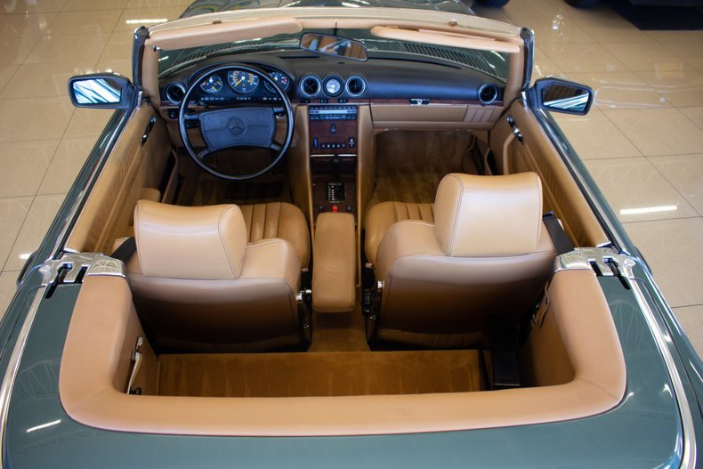 1989 Mercedes 560 SL Roadster Convertible 59k miles Green $29.9k For Sale (picture 5 of 6)