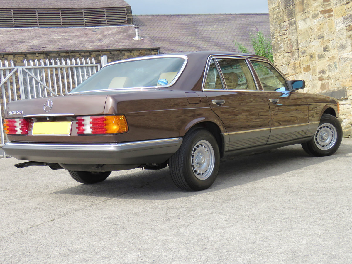 1981 Mercedes W126 500SEL - 1 P/Onr - 63K Miles - FMBSH 36 Stamps For Sale (picture 3 of 6)