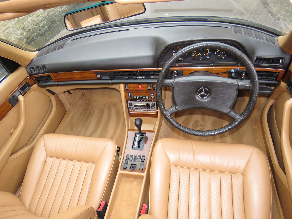 1981 Mercedes W126 500SEL - 1 P/Onr - 63K Miles - FMBSH 36 Stamps For Sale (picture 5 of 6)