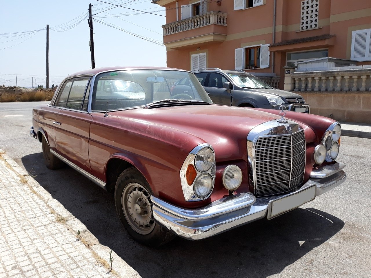 1967 LHD-Mercedes Benz 250SE Coupe-manual transmission For Sale (picture 1 of 6)