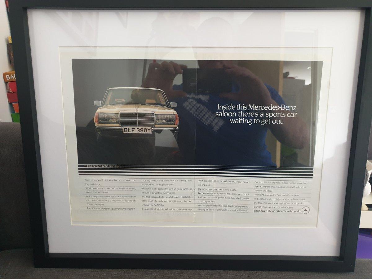 1983 Mercedes 280E advert Original  For Sale (picture 1 of 2)
