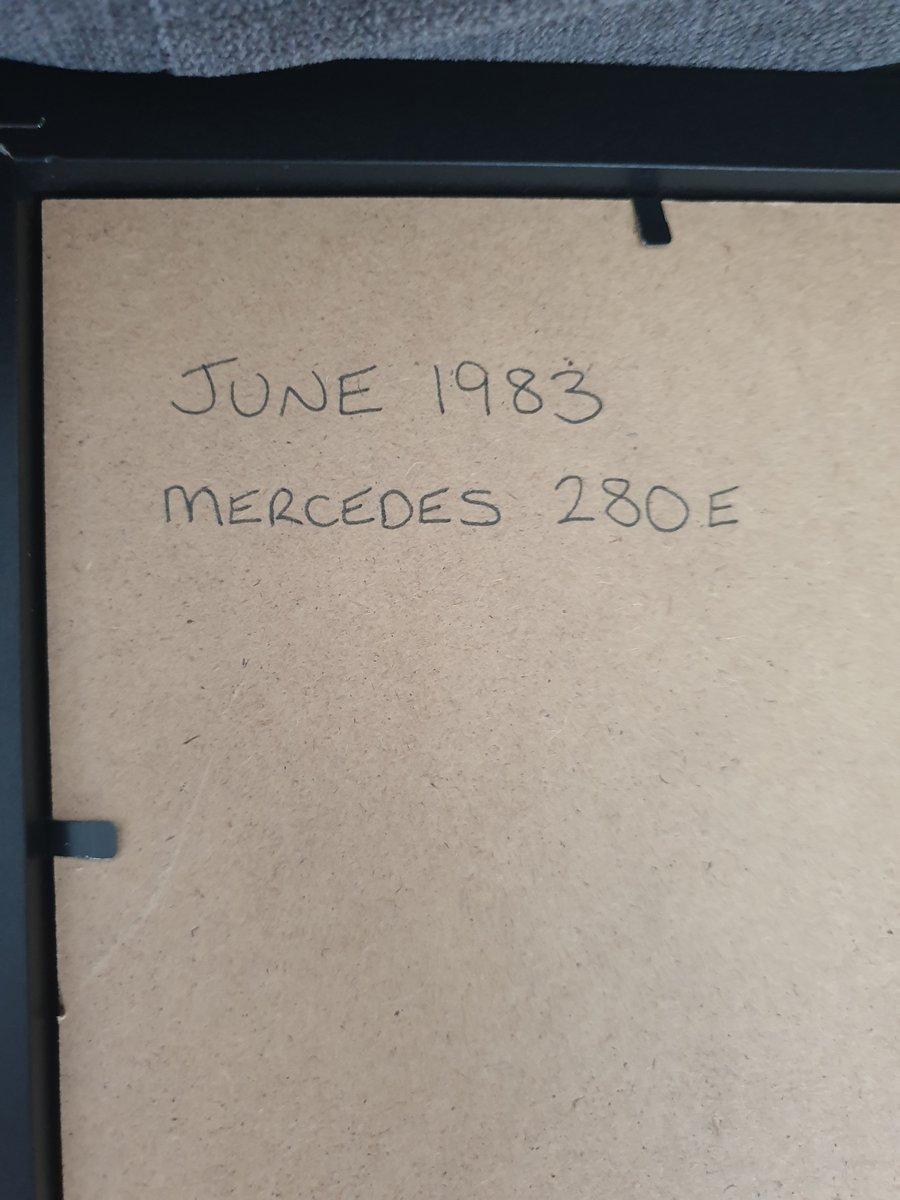 1983 Mercedes 280E advert Original  For Sale (picture 2 of 2)