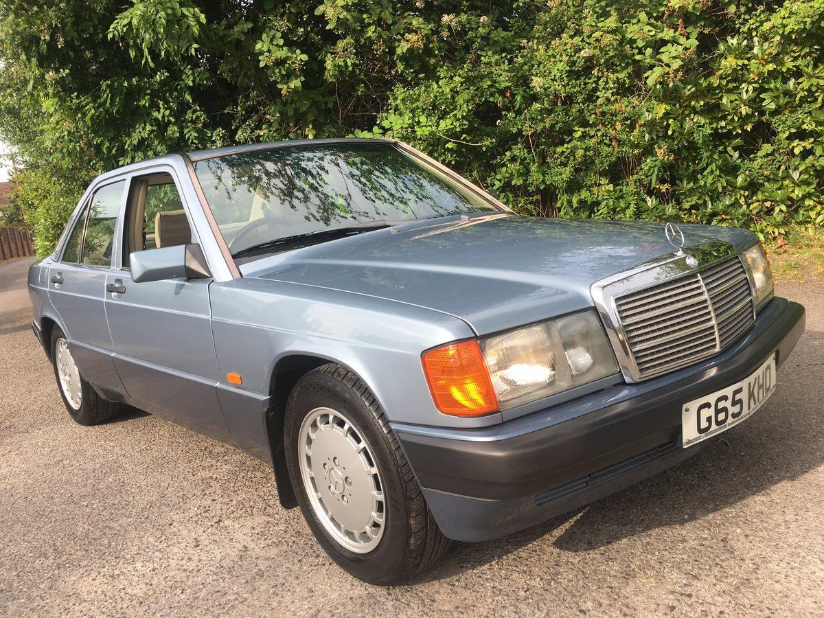 1990 COLLECTORS MERCEDES 190E AUTO 2.0L SUPER CONDITION + HISTORY For Sale (picture 1 of 6)