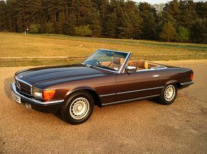 1981 Mercedes Benz SL chocolate Brown VGC 380SL