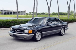 1986 Mercedes S class 560 SEC Sedan = Black 17 AMG $29.5k For Sale