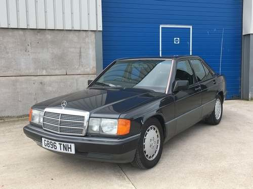 1990 Mercedes 190E Japanese Import at Morris leslie Auction SOLD by Auction (picture 1 of 6)