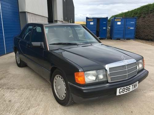 1990 Mercedes 190E Japanese Import at Morris leslie Auction SOLD by Auction (picture 2 of 6)