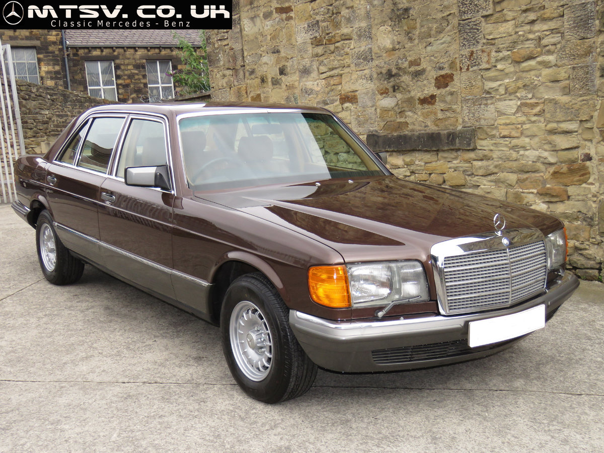 1981 Mercedes W126 500SEL - 1 P/Onr - 63K Miles - FMBSH 36 Stamps For Sale (picture 1 of 6)