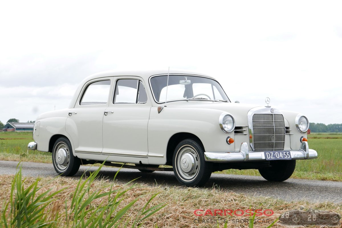 1960 Mercedes Benz 180 Ponton W120 Saloon in original condition! For Sale (picture 1 of 6)