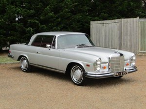 1968 Mercedes W111 280 SE Coupe LHD at ACA 24th August  For Sale