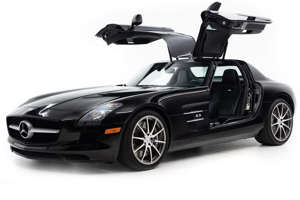2011 11 Mercedes SLS AMG Coupe SLS AMG Black 3.7k miles $178.5k  For Sale (picture 1 of 6)