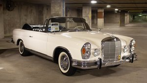 1963 Mercedes 220SE Cabriolet Rare AC Ivory(~)Black $119.9 For Sale