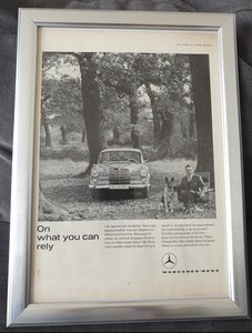 1963 Original Mercedes 190 Advert