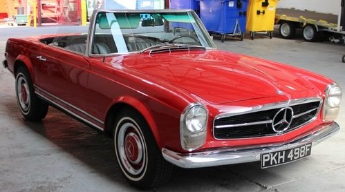 1968 250 sl convertible For Sale by Auction