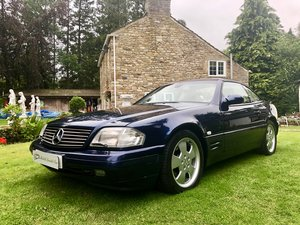 1998 ICONIC MERCEDES SL320 R129 67k PANORAMIC HARDTOP AMAZING CAR For Sale