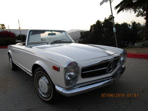 1968 280SL White with Brown & Black Top - Great Price! For Sale
