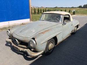 1957 Mercedes 190SL project car, matching, complete