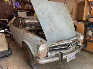 1970 Mercedes 280SL project car, matching, complete For Sale