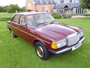 1980 Mercedes Benz 200 saloon with only 34000 miles SOLD