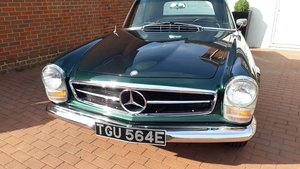1967 230sl black plate from california For Sale