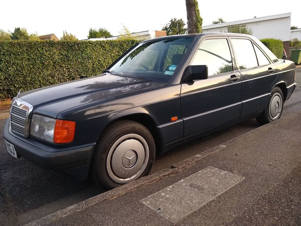1991 Mercedes 190E 1.8 manual, two owners, MOT December For Sale (picture 1 of 6)