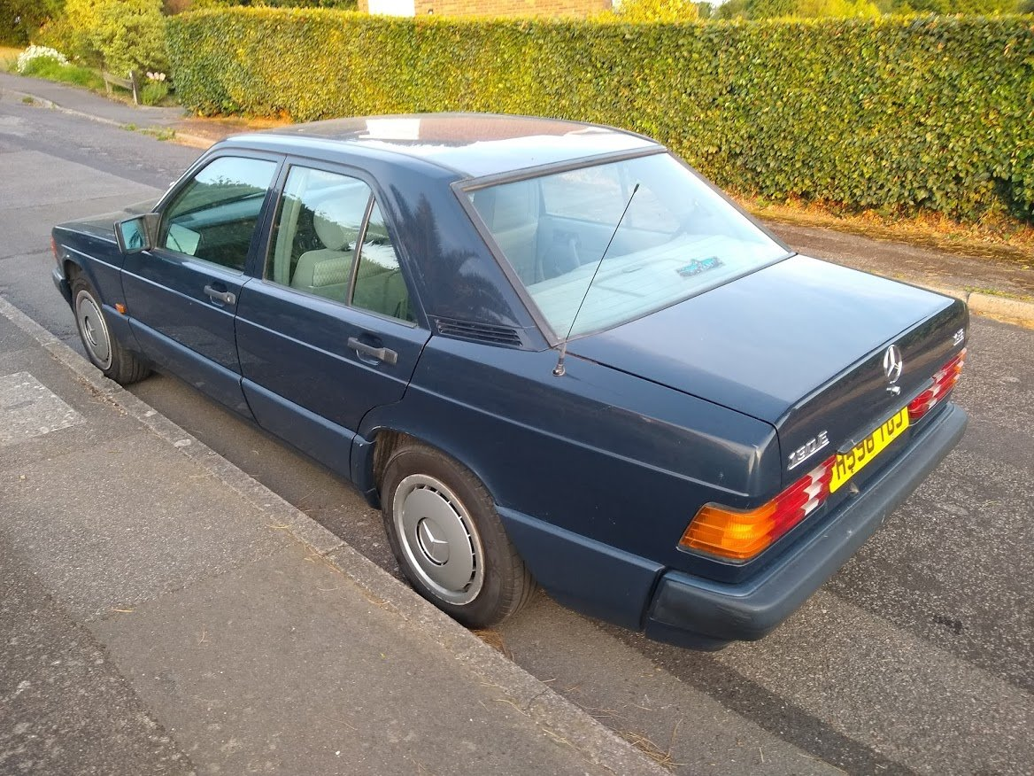 1991 Mercedes 190E 1.8 manual, two owners, MOT December For Sale (picture 5 of 6)