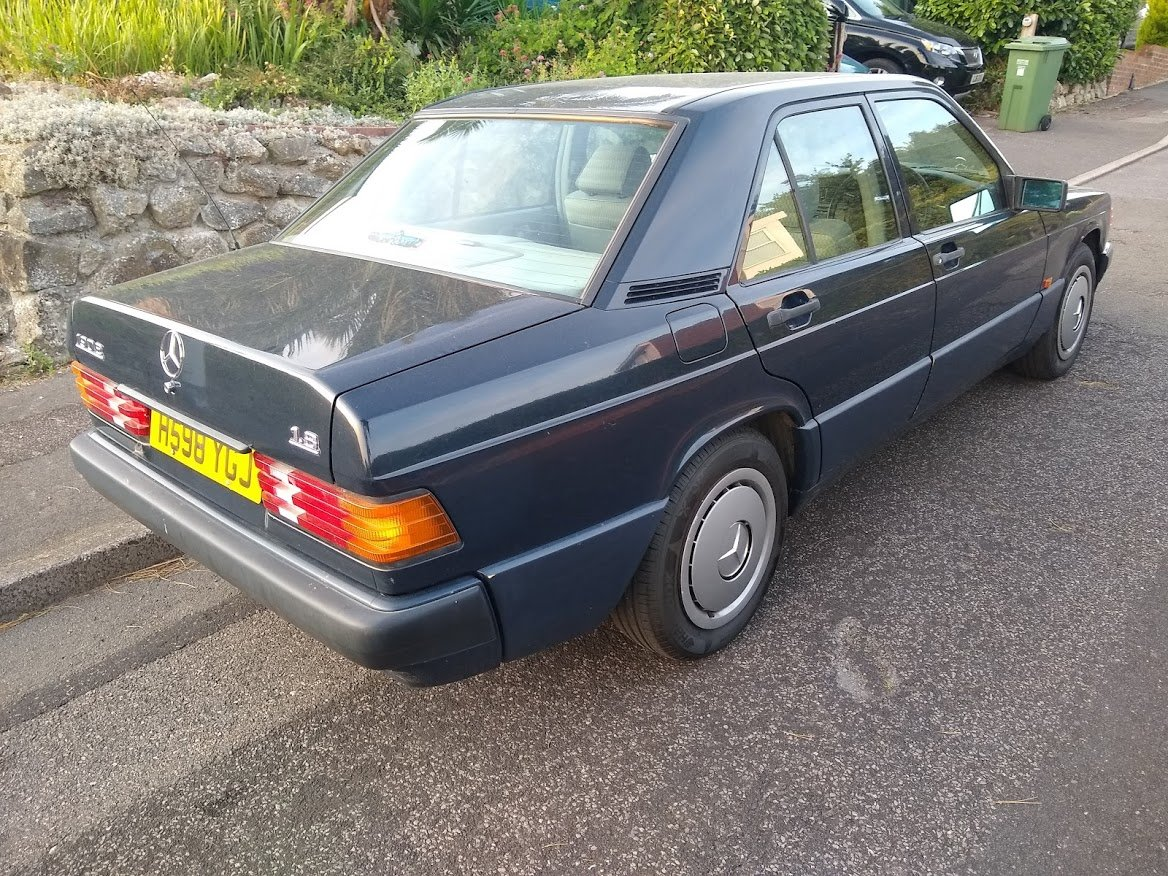 1991 Mercedes 190E 1.8 manual, two owners, MOT December For Sale (picture 6 of 6)