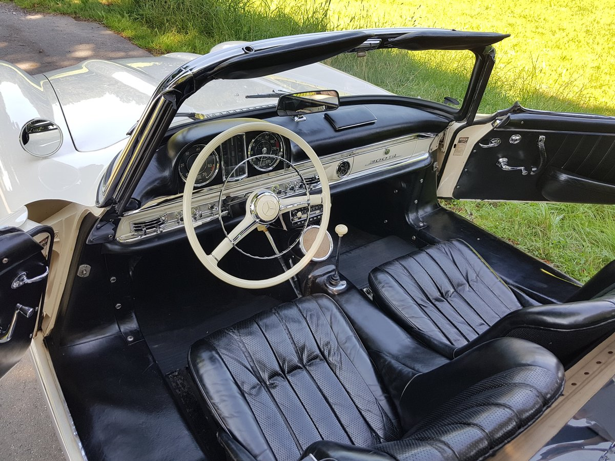 1962 Mercedes 300 SL Roadster, 63.325 km since new!  For Sale (picture 3 of 6)