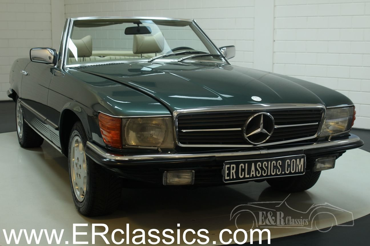 Mercedes Benz 350SL 1979 R107 Green Metallic For Sale (picture 1 of 6)