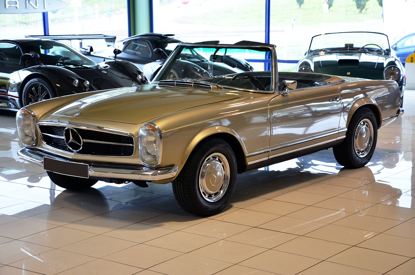 1968 -Mercedes 280 SL-Hard top-3 Seats LHD-Manual-Euro Specs For Sale (picture 1 of 6)