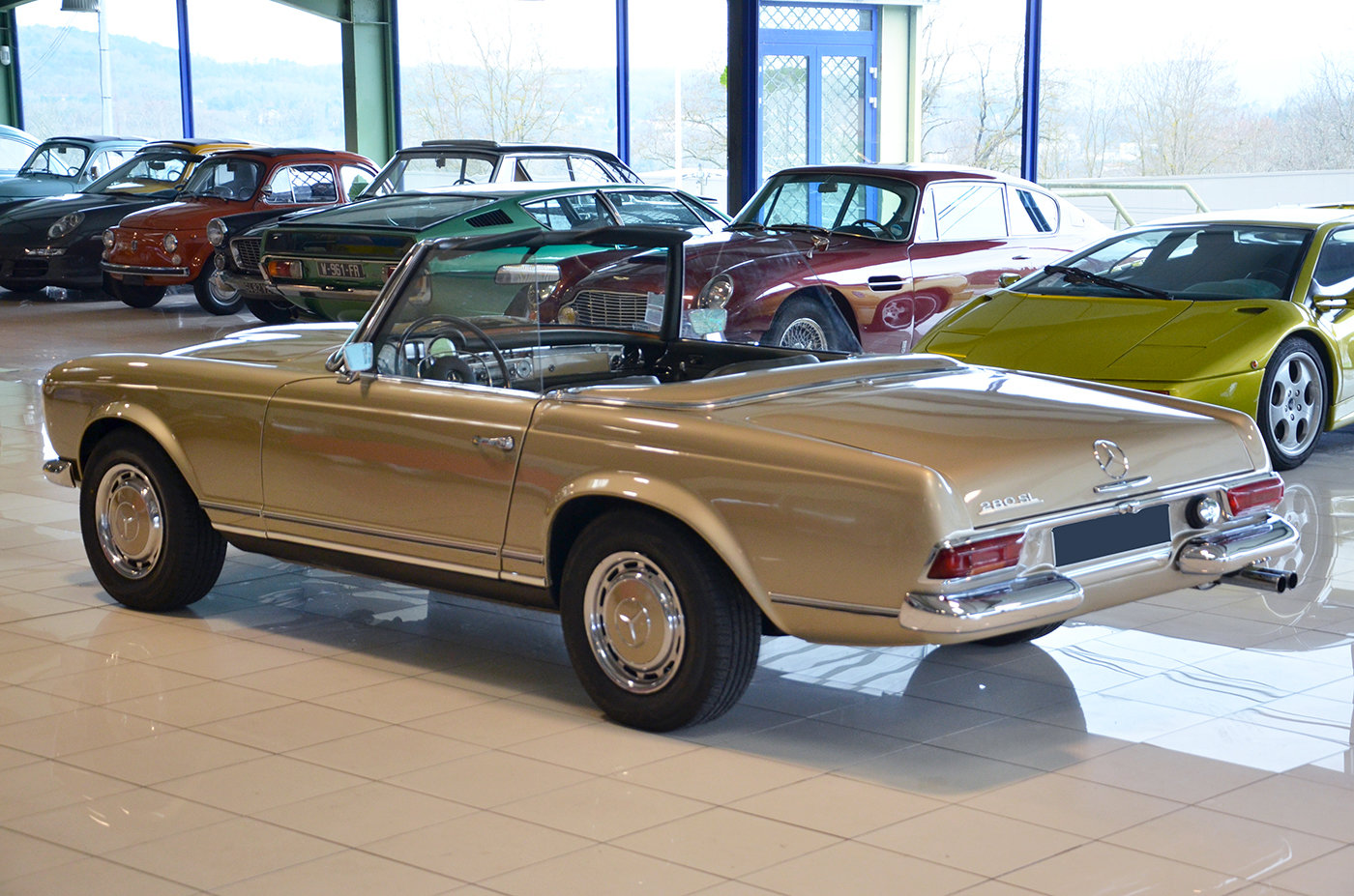 1968 -Mercedes 280 SL-Hard top-3 Seats LHD-Manual-Euro Specs For Sale (picture 3 of 6)