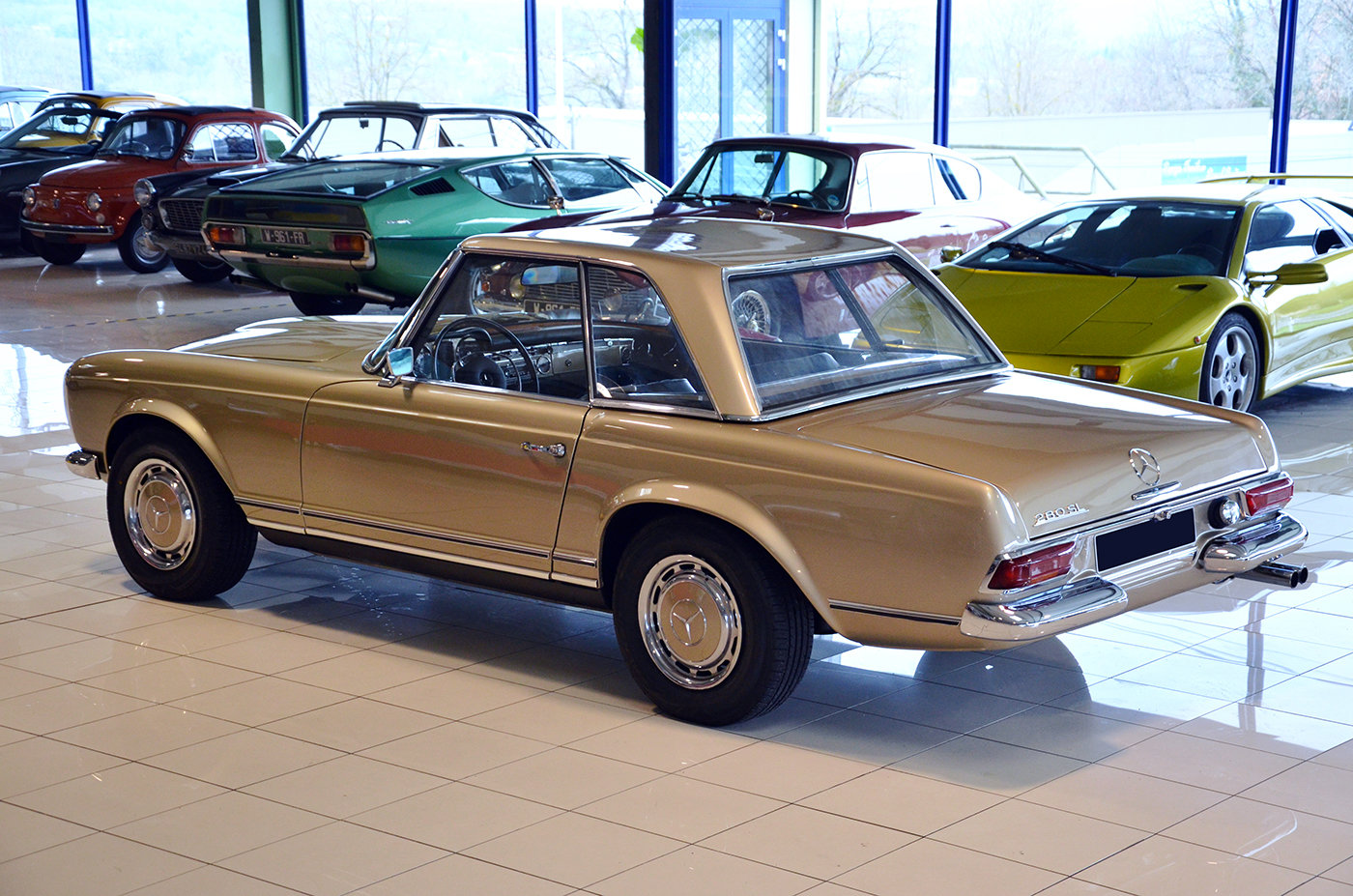 1968 -Mercedes 280 SL-Hard top-3 Seats LHD-Manual-Euro Specs For Sale (picture 6 of 6)
