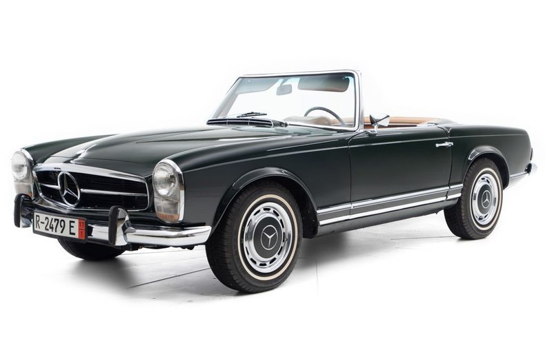 1969 Mercedes 280SL Convertible Pagoda Restored Green 2.9k miles  For Sale (picture 1 of 6)
