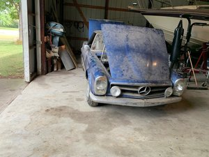 1965 Mercedes 230SL Euro Spec Two Tops For Restoration -