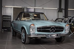 1969 Mercedes-Benz 280 SL Pagoda in Horizon Blue by Hemmels For Sale
