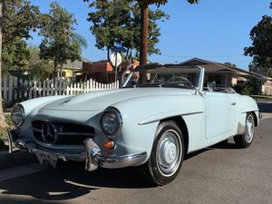 1959 Mercedes 190 SL Convertible Roadster Blue Driver $74.5k For Sale
