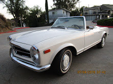 1968 Mercedes 280SL Pagoda Manual Ivory  2 Tops $59.5k