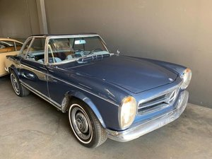1965 Mercedes 280 SL Pagoda Manual Blue Project  $39.5k