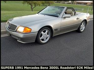1991 Mercedes 300SL Roadster Pristine 92k miles 2 Tops $6.9k For Sale