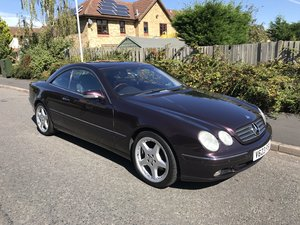 1999 Mercedes CL500 in Rare Almandine Black Low Mileage For Sale